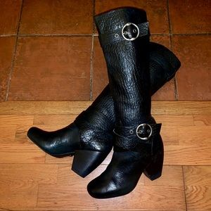 Lucky Brand Leather Candice Heeled Knee High Boots